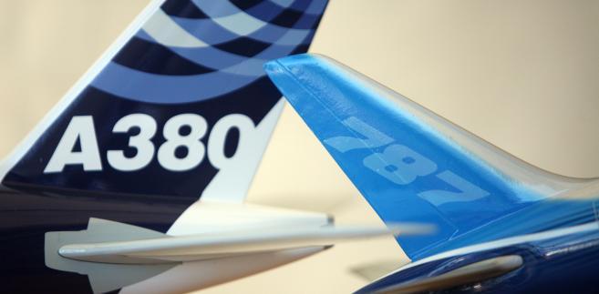 Modele samolotów Boeing 787 Dreamliner oraz Airbus A380