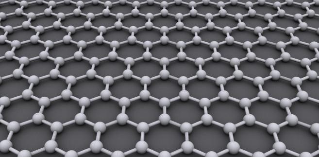Struktura grafenu - atomy węgla połączone w sześciokąty (CC BY-SA 3.0)