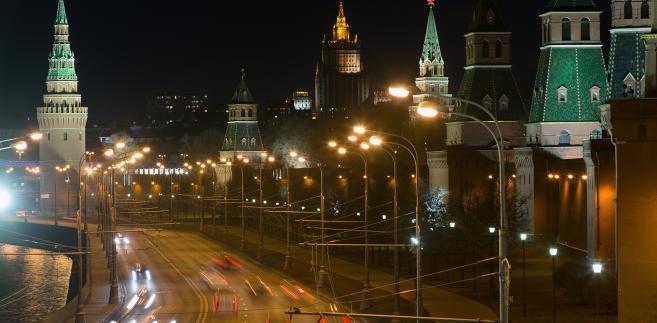 Widok na Kreml nocą, Moskwa, 16.04.2014