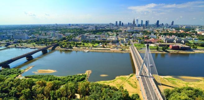 Warszawa, widok z lotu ptaka