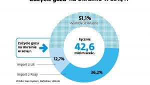 Zużycie gazu na Ukrainie w 2014 r.