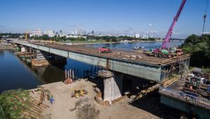 Most Łazienkowski w Warszawie podczas prac remontowych (cat) PAP/Leszek Szymański