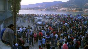 Imigranci na greckiej wyspie Lesbos. 4.09.2015