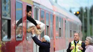 Imigranci w Freilassing w Niemczech EPA/ANDREAS GEBERT Dostawca: PAP/EPA.