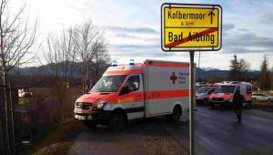 Katastrofa kolejowa w Bawarii EPA/PAUL WINTERER Dostawca: PAP/EPA.