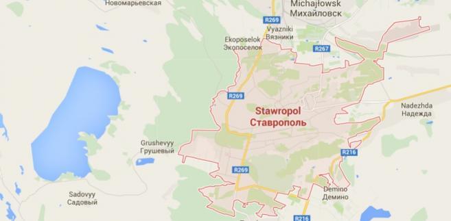 Rosja, Kraj Stawropolski. Google Maps