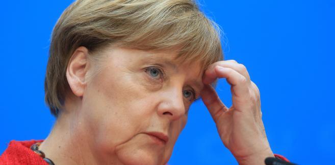 Angela Merkel w czasie konferencji prasowej w Berlinie, 14.03.2016