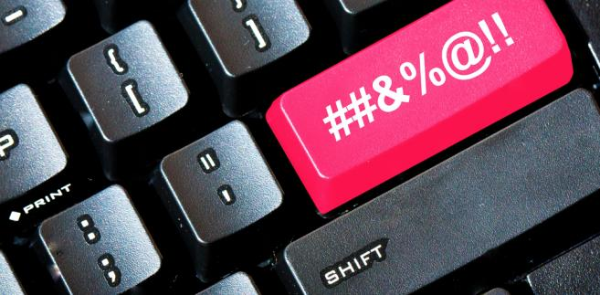 wulgaryzmy klawiatura internet