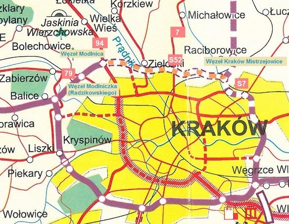 Obwodnia Krakowa: Odcinek nr II: Węzeł Modlnica – Węzeł Kraków Mistrzejowice, źródło: GDDKiA