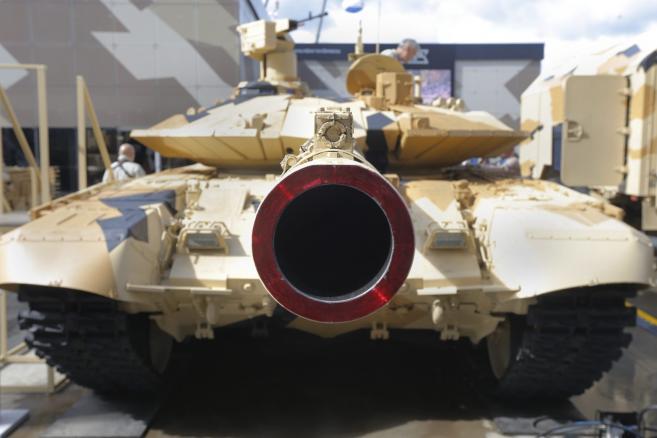 Czołg T-90MS. Międzynarodowe Forum Wojskowo-Technicznej ARMY 2016 w Kubince - Rosja fot. EPA / SERGEI ILNITSKY