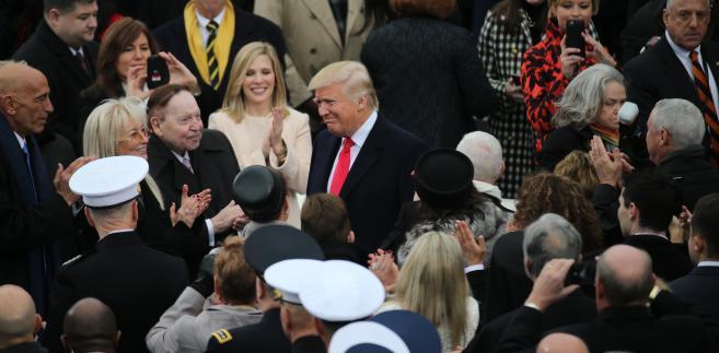 Donald Trump przybywa na uroczystość zaprzysiężenia na 45. prezydenta Stanów Zjednoczonych, Waszyngton, 20.01.2017