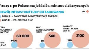 W 2025r. po Polsce ma jeździć 1 mln aut elektrycznych
