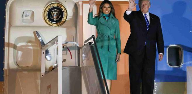 Donald Trump i Melania Trump fot. Paweł Supernak