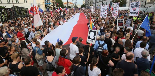 Warszawa protest