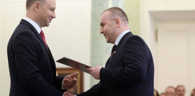 Andrzej Duda i Paweł Mucha