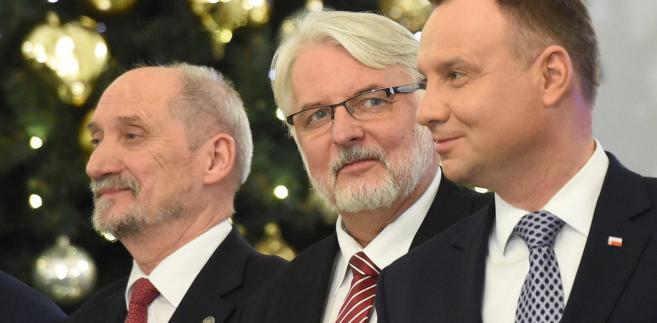 Antoni Macierewicz, Witold Waszczykowski i prezydent Andrzej Duda