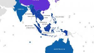 Regionalne Kompleksowe Partnerstwo Gospodarcze (RCEP) - 16 członków. Źródło: By Tiger7253 [CC BY-SA 4.0 (https://creativecommons.org/licenses/by-sa/4.0)], from Wikimedia Commons