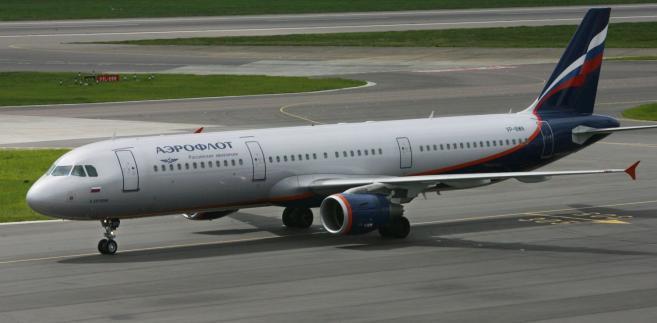 samolot linii lotniczych Aerofłot.