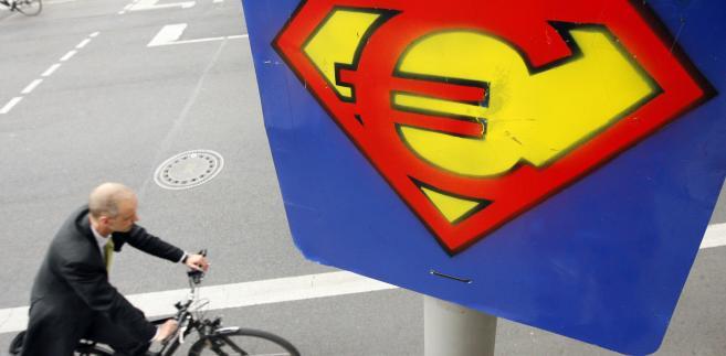 Symbol euro w Berlinie