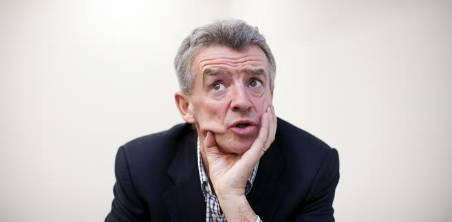 Michael O'Leary, prezes tanich linii lotniczych Ryanair