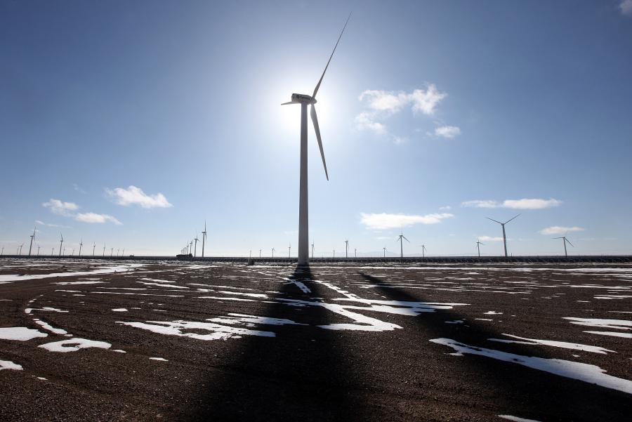 Farma wietrzna w Chinach