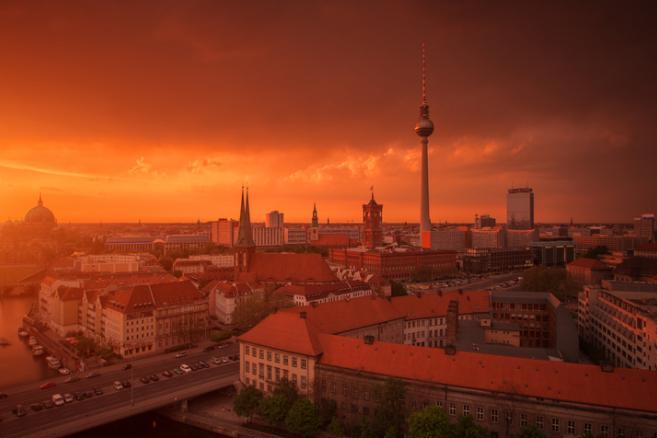 Panorama Berlina, Niemcy.