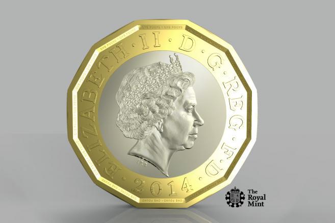 Nowa brytyjska 1-funtówka
