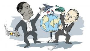 Barack Obama i Władimir Putin  Fot. Denis Simonov / Shutterstock.com