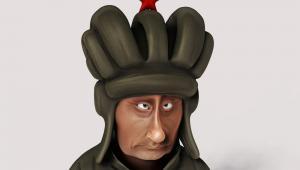 Karykatura Władimira Putina