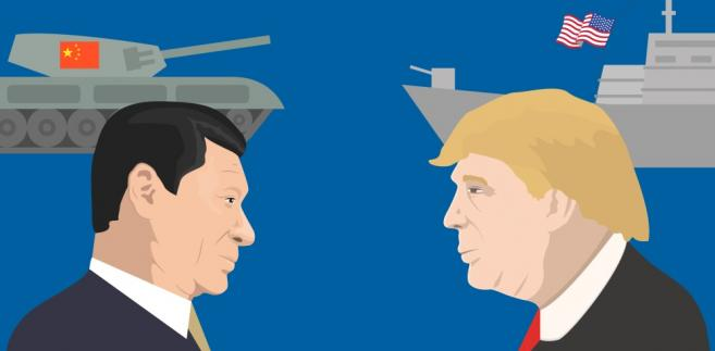 Donald Trump i Xi Jinping USA Chiny Fot. vector_brothers