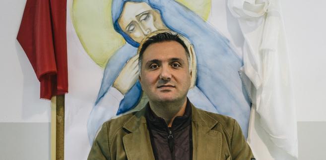 Abdo Haddad, chrześcijanin mieszkający w Syrii. Fot. Maksymilian Rigamonti