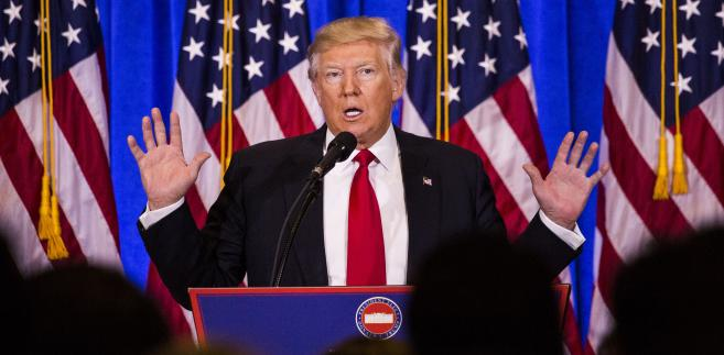 Konferencja prasowa Donalda Trumpa w Nowym Jorku, 11.01.2017