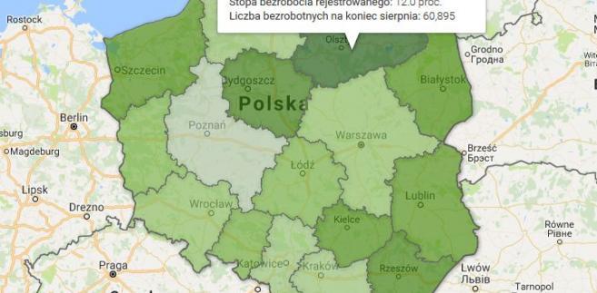 Bezrobocie w Polsce w sierpniu 2017 r.