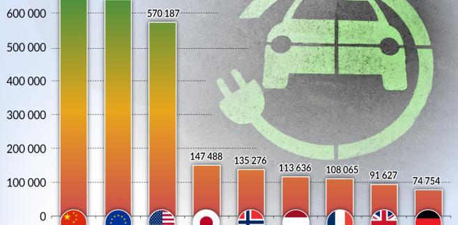 Rynki aut elektrycznych (graf. Obserwator Finansowy)