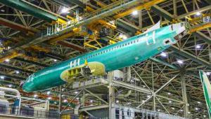 Renton fabryka Boeinga - kadłub B737 MAX 8 dla LOT-u
