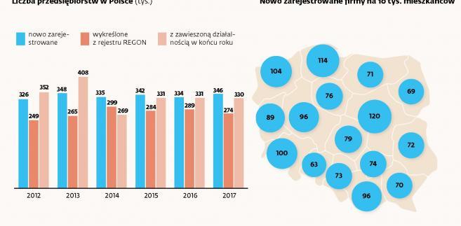 Liczba przdsiębiorstw w Polsce