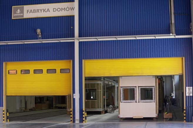 Otwarcie fabryki domów modułowych Unihousew Bielsku Podlaskim. (nlat) PAP/Artur Reszko