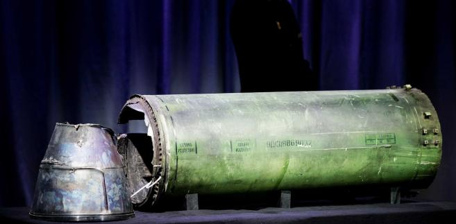 Fragment pocisku Buk, który strącił malezyjski samolot