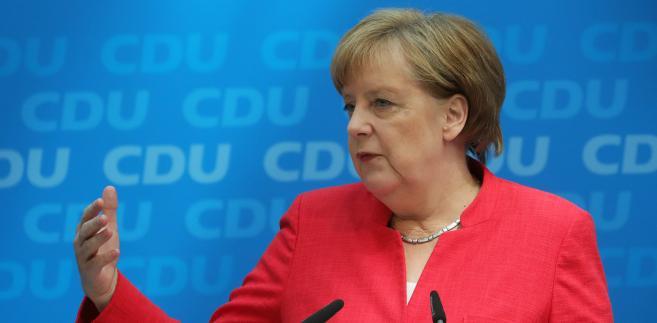 Angela Merkel w czasie konferencji prasowej CDU. Berlin, Niemcy, 18.06.2018