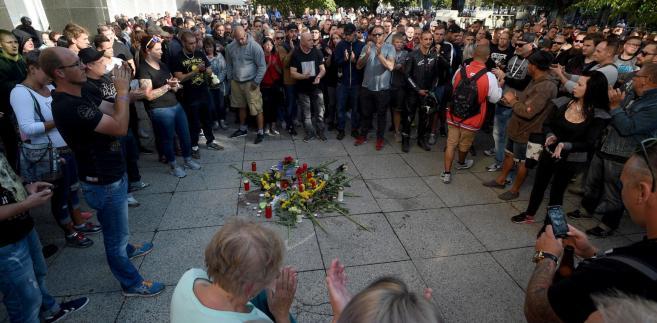 Demonstracja skrajnej prawicy w Chemnitz