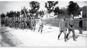 Oddział Związku Strzeleckiego podczas ćwiczeń w Zakopanem, 1913 r. fot. NAC