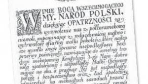 Preambuła do konstytucji z 17 marca 1921 r. fot. mat. prasowe