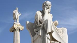 Posągi Sokratesa i Apolla, Ateny, Grecja, fot. Brigida Soriano