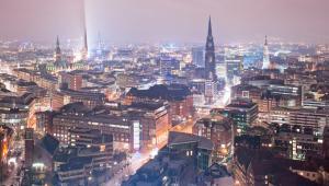 Panorama Hamburga, Niemcy.