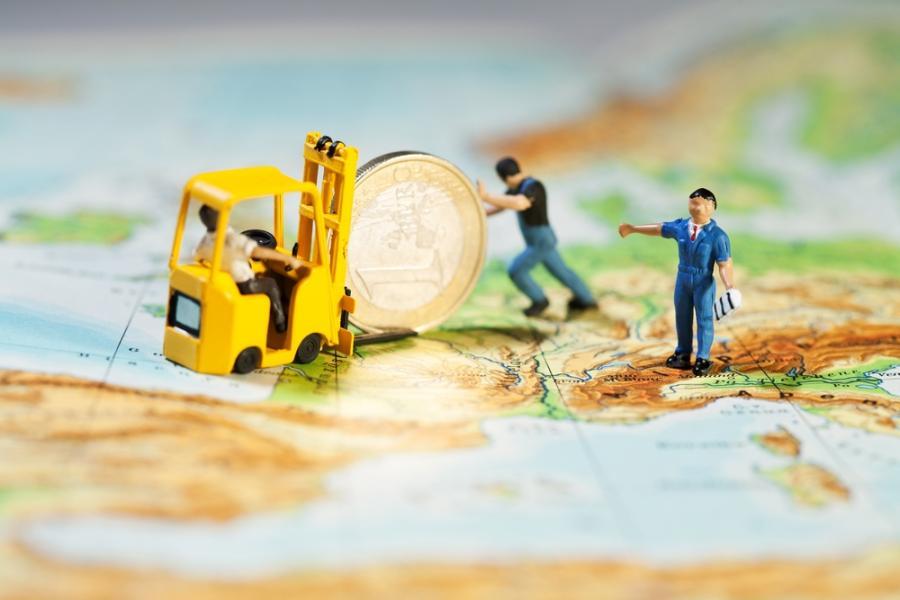 Europa, euro, mapa, kryzys