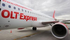 Samolot należący do linii lotniczych OLT Express.