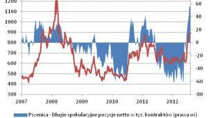 Ceny i speklacyjne pozycje na rynku pszenicy