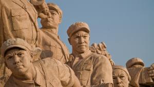 Pomnik robotników na placu Tiananmen w Pekinie